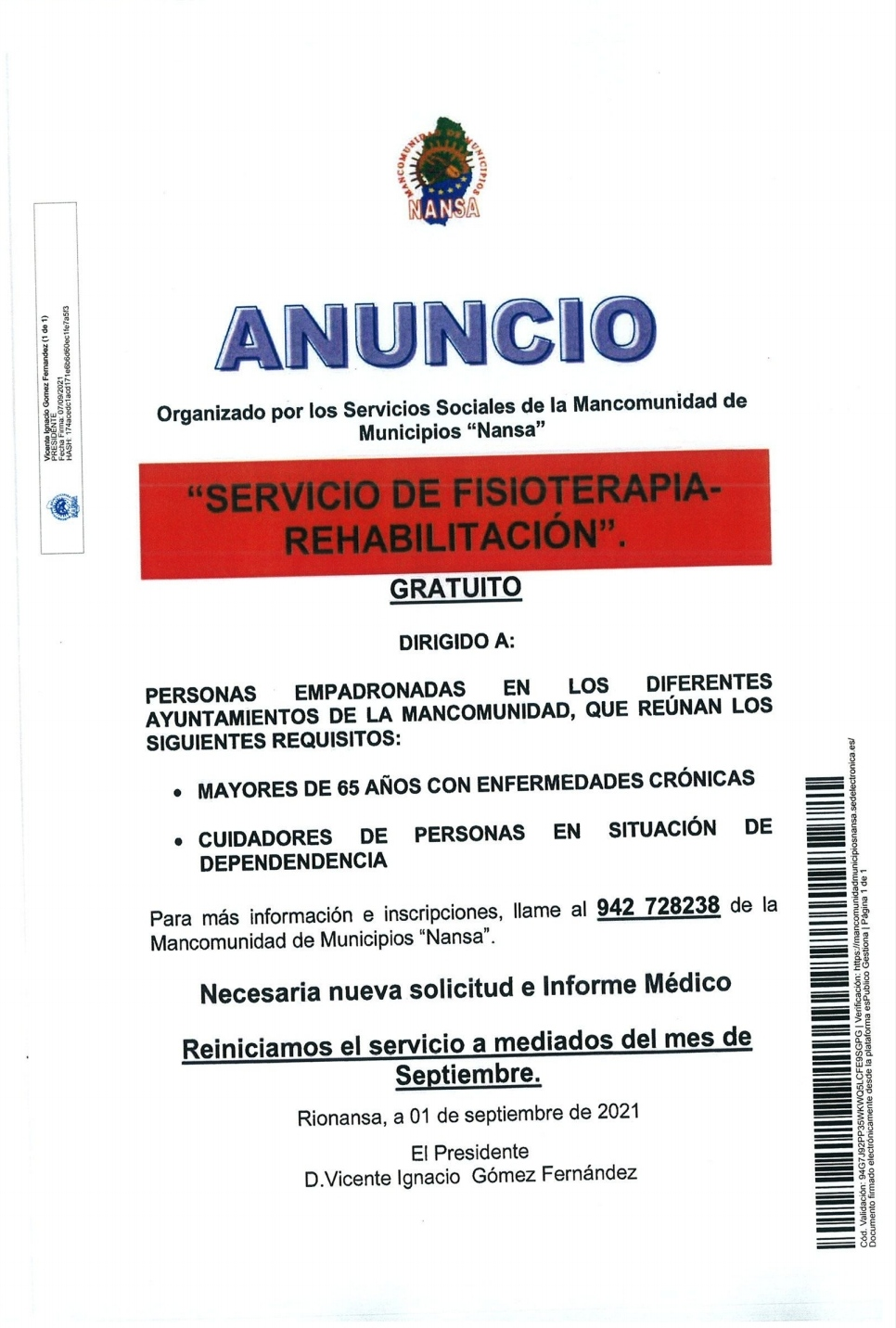 SERVICIO DE FISIOTERAPIA – REHABILITACIÓN